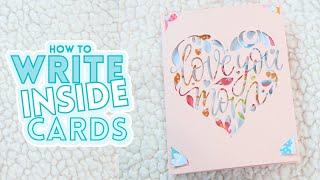 Cricut Joy Cards - How To Write & Draw Inside
