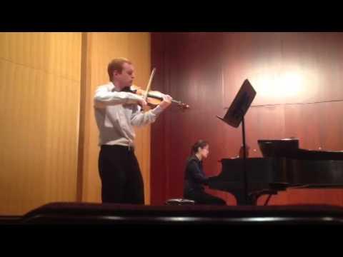 Matt Dickey performs Brahms Sonata no. 1 in G Major.