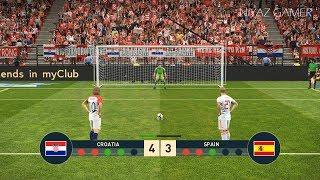 CROATIA vs SPAIN | Penalty Shootout | PES 2019 Gameplay PC