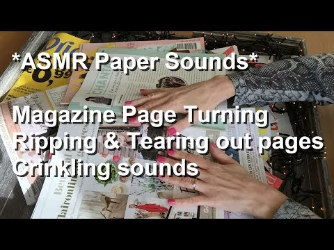Download ASMR Paper Sounds| Magazine Page Turning| Ripping And Tearing Out Pages| Crinkling Sounds| HD Mp4 3GP Video and MP3