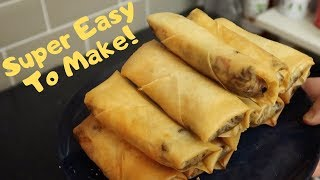 🍴🍔How To Make Cheeseburger Spring Rolls From Walt Disney World 🐭✨| Chef Dave | KrispySmore 2019