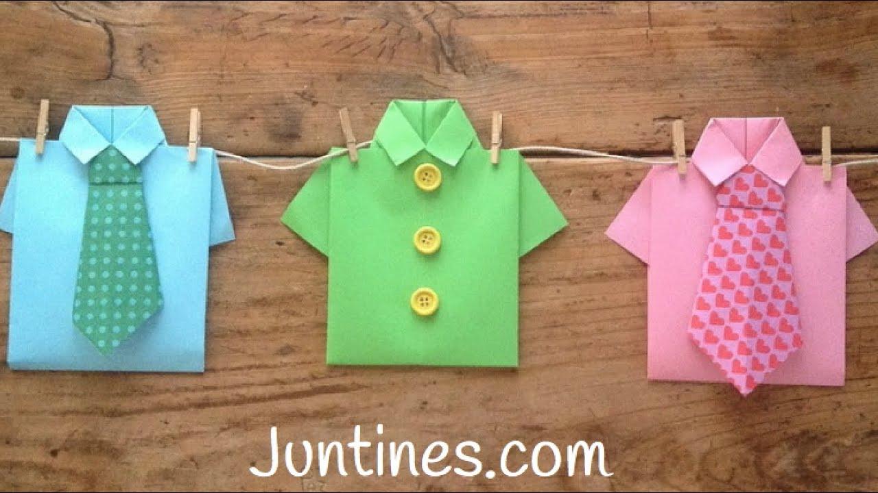 Camisas de papel - Origami fácil para niños