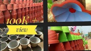 ചെടിച്ചട്ടി നിർമ്മാണംlHow To Make Cement Pot In Malayalam   Flower Pot Making L Ansys Yummy Kitchen