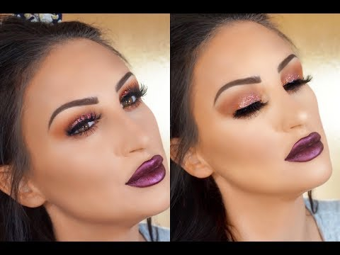 AFFORDABLE CRANBERRY FALL MAKEUP TUTORIAL FULL FACE TALK THROUGH