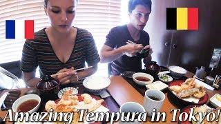 【ひさご】外国人カップルが本格江戸前天ぷらを楽しむ!/ Amazing Tempura In Tokyo