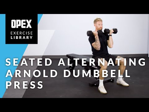 Seated Alternating Arnold Dumbbell Press - OPEX Exercise Library