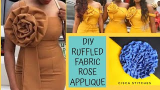 DIY TRENDY RUFFLE ROSE/ROSETTE FOR SLEEVES, DRESSES | TRENDY RUFFLE SLEEVE | CISCA STITCHES