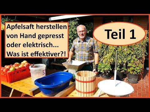 Apfelsaft selber machen - was ist effektiver? TEIL 1 / Obstpresse vs. Entsafter