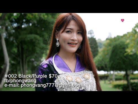 Hmong Clothes - #002 Black/Purple $70 [Video 4K]
