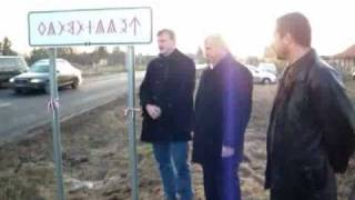 preview picture of video 'Celldömölk: rovástábla avatás'