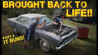 ABANDONED Muscle Car Revival! First Start in 35 years! -- Part 4