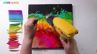 Crayon Melting Art Tutorial || Crayola Paint And Sip With Josie Lewis Art