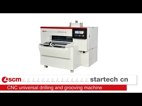 Startech CN: the new SCM universal drilling machine - foratrice universale