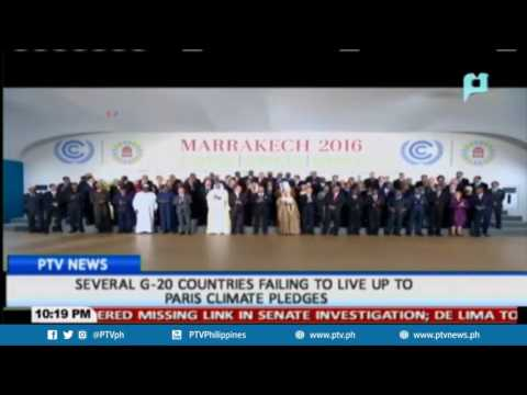 Several G-20 countries failing to live up to Paris climate pledges