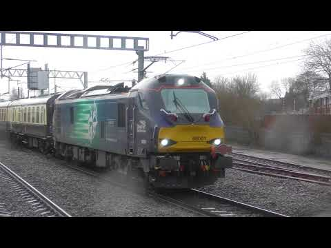 37609, 37069 & 88001 work 'The Blue Boys Ribble Rouser' rail…