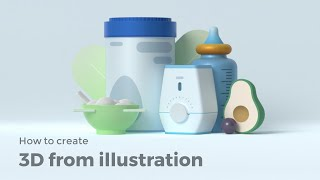 How To Transform An Illustration Into 3D | Vectary Tutorial