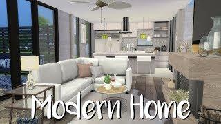 The Sims 4: Speed Build-  MODERN HOME + CC List