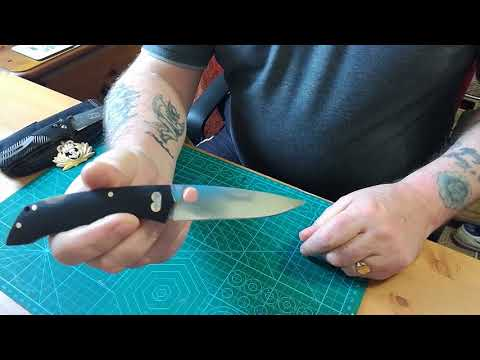 BROTHER 1501g back lock folding knife.review.