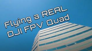 Flying a Real DJI FPV Freestyle Quad
