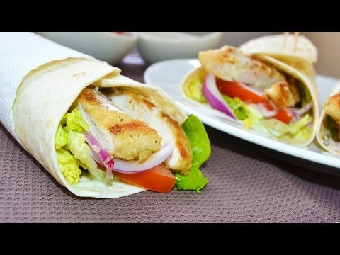 Wraps de Pollo | Recetas de cocina fáciles y rápidas