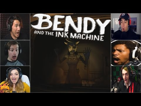 Gamers Reactions to the Alice Angel Jumpscare   Bendy and The Ink Machine - Chapter 3