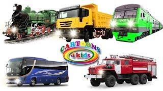 Учим цвета и машинки. Обучающее видео для детей про транспорт