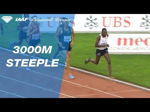 Kenya's Conseslus Kipruto wins steeplechase race with one shoe