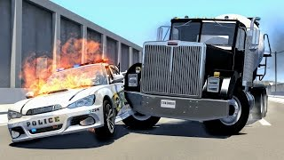 Crazy Police Chases #3 - BeamNG Drive Crashes