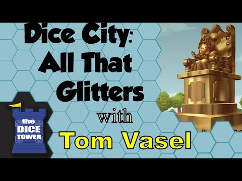 Dice Tower Reviews: Dice City: All that Glitters