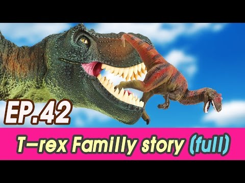 [EN] Full story. Hungry T-rex familly + bonus cut (kids education, collecta figure0 [cocostoy]