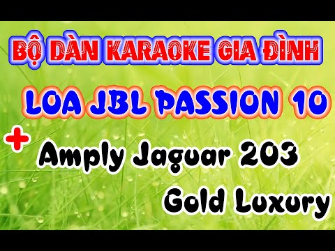 DÀN KARAOKE gia đình với Amply Jarguar 203 gold luxury và Loa JBL Pasion 10