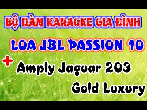 DÀN KARAOKE gia đình với Amply Jarguar 203 gold luxury và Loa JBL Pasion 10