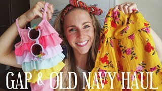 BABY GIRL CLOTHING HAUL | GAP & OLD NAVY