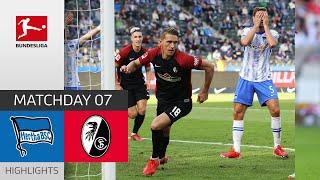 Hertha Berlin 1-2 SC Freiburg Pekan 7