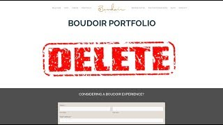 DELETING MY PICTURES And Portfolio Tips