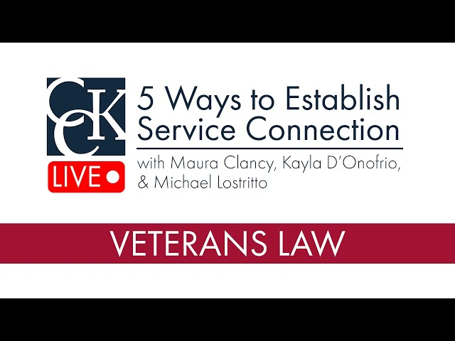 5 Ways to Establish VA Service Connection