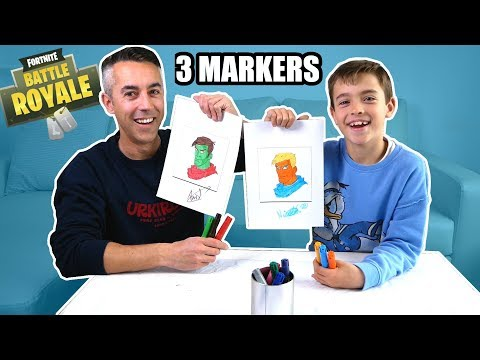 FORTNITE 3 MARKERS CHALLENGE