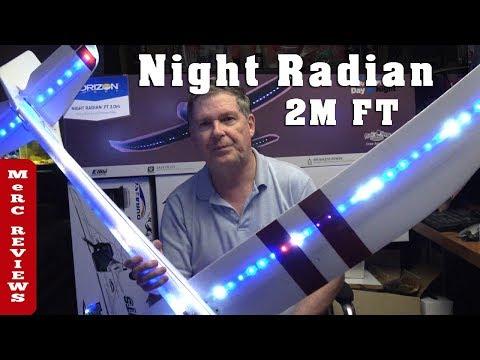 eflite-night-radian-ft-flite-test-2-meter-rc-glider---addressable-leds-review