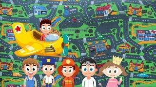 Детский ковролин City Life от компании НАПОЛ - видео 1