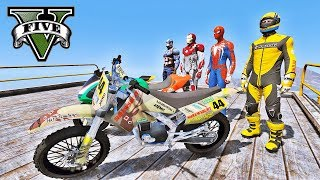MOTOS no Desafio na Mega Rampa - GTA V Mods - IR GAMES