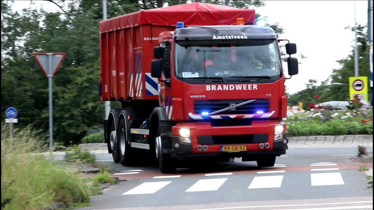 [Kapotte Sirene] Brandweer Amsterdam, Amstelveen en Aalsmeer spoed naar Zeer Grote Brand Amsterdam