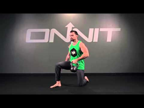 Half Kneeling One Arm Kettlebell Clean