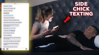 SIDECHICK BLOWING UP MY PHONE PRANK (GIRLFRIEND CALLS OUT SIDECHICK)