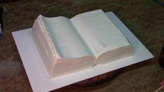 How To Make A Book Cake / Cake Decorating