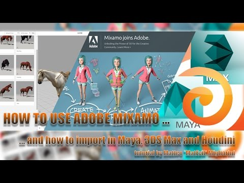 Tutorial Adobe  Mixamo and import in Maya, 3DSMax and Houdini – English Version