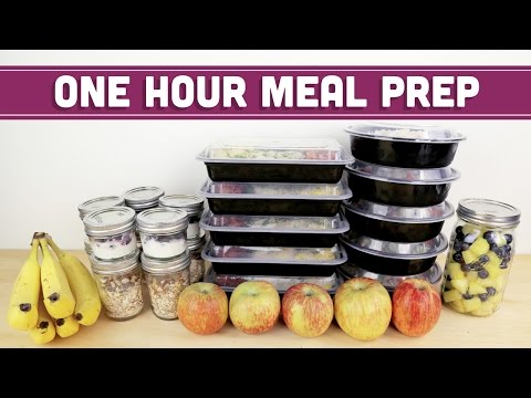 Video ONE HOUR Meal Prep For The Week! - Mind Over Munch