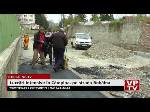 Lucrări intensive în Câmpina, pe strada Bobâlna