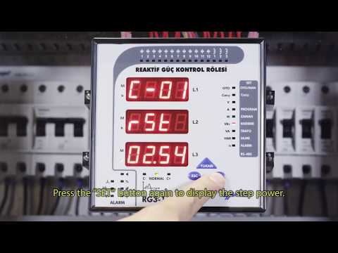 RG3-15 CLS Power Factor Controller Checking Step Powers