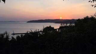 preview picture of video 'Sunset time at Ushimado Tenmangu'
