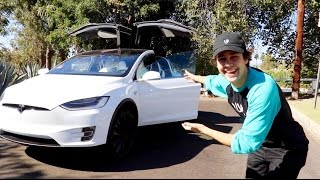 CAR TOUR OF MY NEW TESLA (ft. Heath Hussar)